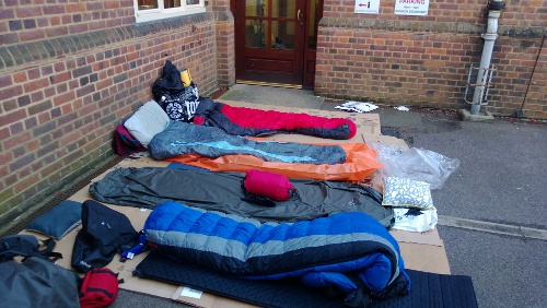 Sleep Out for Herts Young Homeless